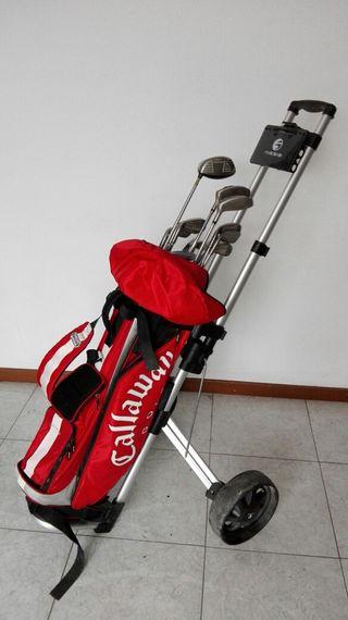 Equipo completo de palos de golf con carro