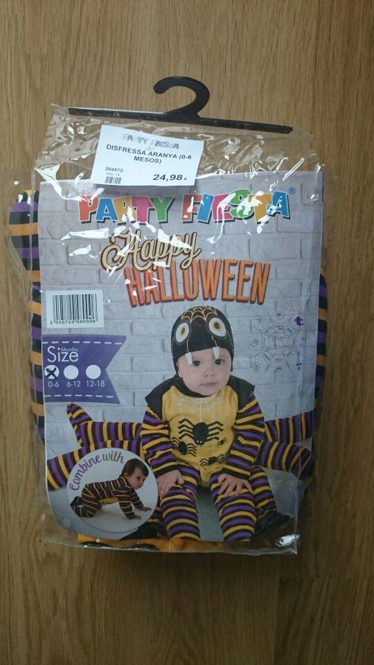 Disfraz hallowen bebe araña 0-6m