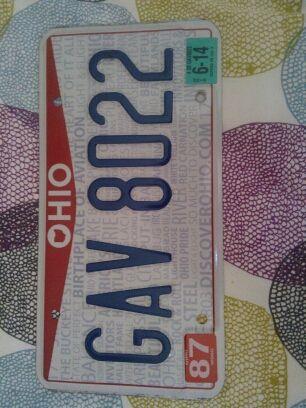 Matrícula original de OHIO USA