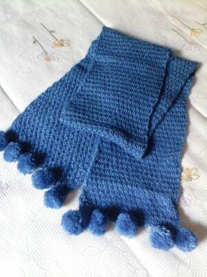 Bufanda de lana artesanal