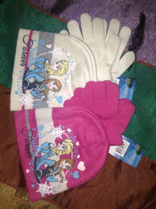 Gorro y guantes frozen