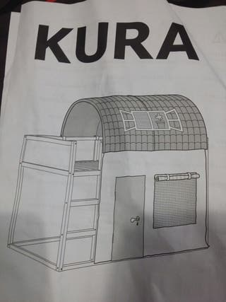 Dosel y cortina nuevo de cama Kura