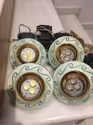 4 X Plafon ceramica luz calida 12V