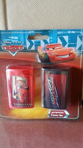Sacapuntas con goma. Cars