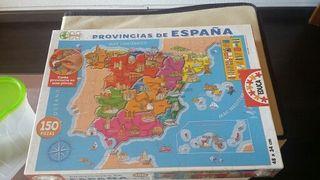 Puzle provincias de España.