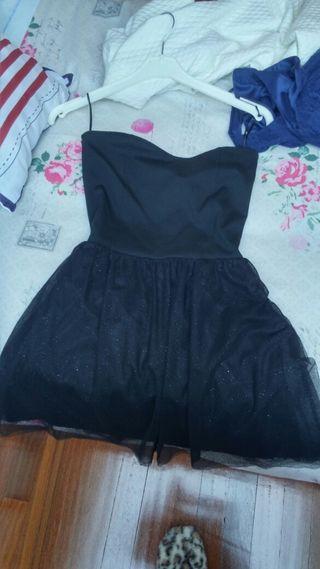 Vestido noche negro brillante