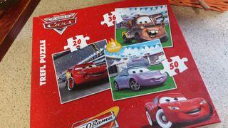 Caja 3 puzzles Cars 4 años