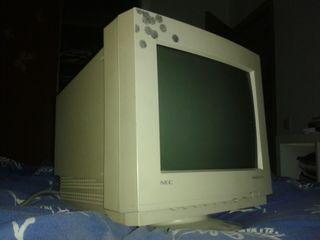 """Monitor VGA antiguo CRT de tubo, 14"""" y 15"""""""