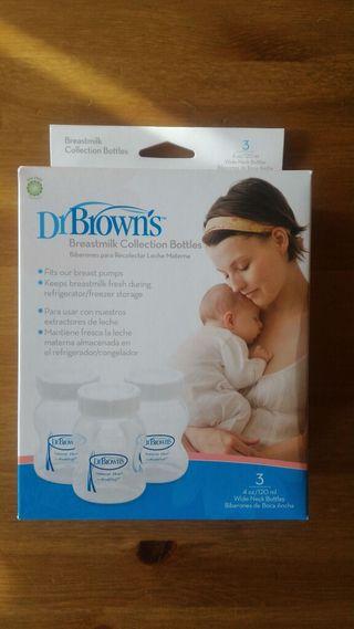 Biberones para recolectar leche materna Dr. Browns