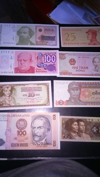 Billetes de extranjeros.