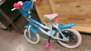 Bici para niña de entre 3 y 5 años