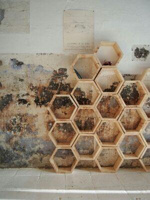 Estantería modular madera