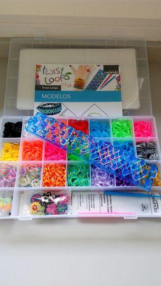 Set pulseras gomas elasticas