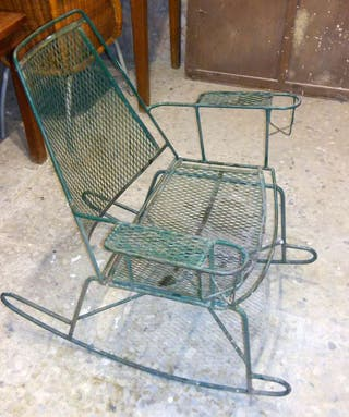 2 sillas de forja balancín.