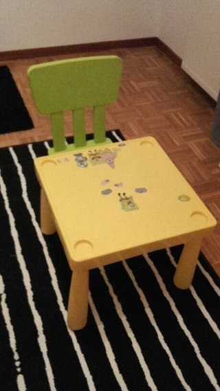 MESITA Y SILLA NIÑOS IKEA
