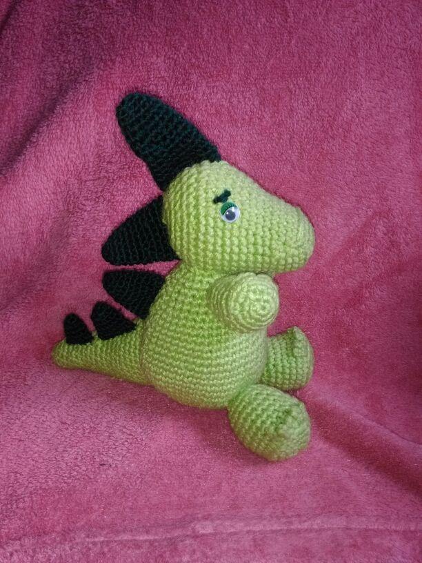 Amigurumi Dinosaurio Tejido Al Crochet - $ 320,00 en Mercado Libre | 816x612