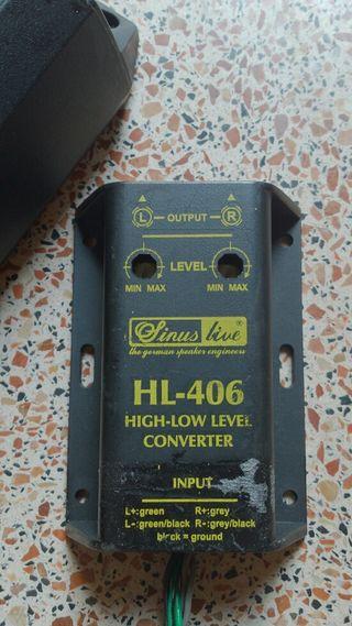 Adaptador salida RCA amplificar altavoces