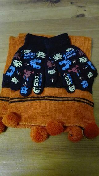 Invierno guante bufanda