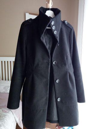 Abrigo paño negro