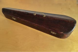 Funda de violin antigua madera