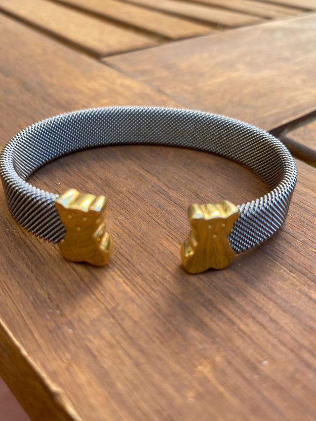 Pulsera de oro y acero