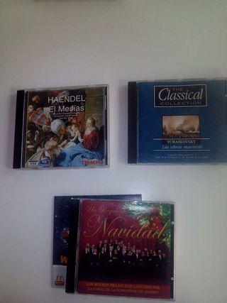 CD.Musica Clásica..Hendel.(El Mesias). Chaiikovsky. (Las Obras Maestras)..Coral COtros