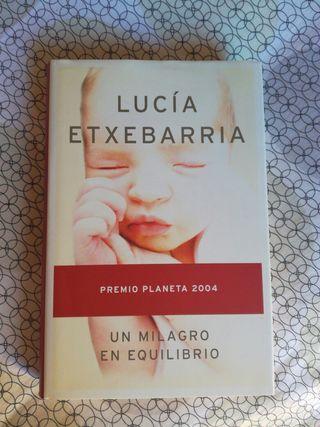 Libro: un milagro en equilibrio. Lucia Etxebarria