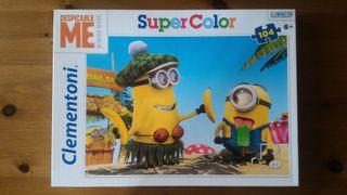 Puzzle SuperColor de 104 piezas de los Minions