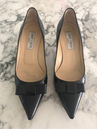 Zapatos de piel negros jimmy choo originales 37.5