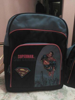 Mochila, bolsa de viaje y estuche/neceser Superman