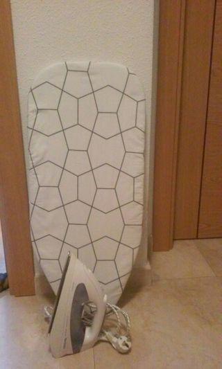 Plancha ropa con tabla