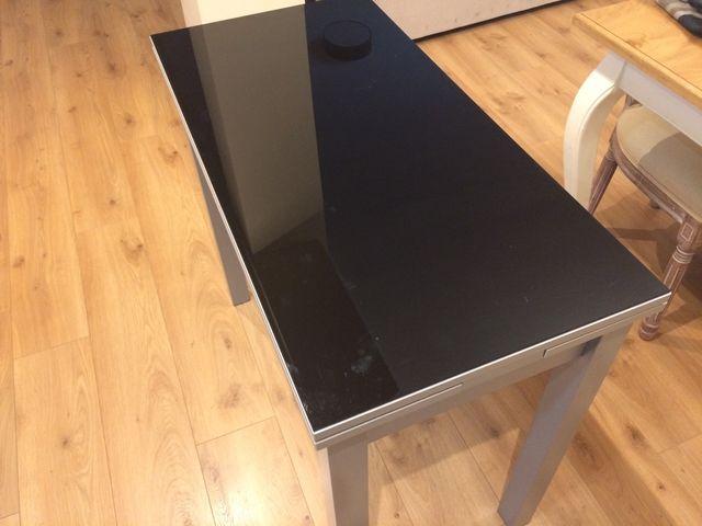 Mesa cocina de diseño en acero y cristal. de segunda mano por 80 ...
