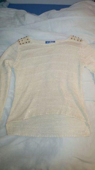 jersey blanco talla m