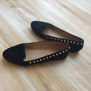 Zapatos de piel y pelo zara