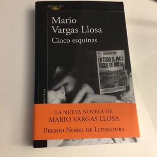Libro cinco esquinas Mario Vargas Llosa