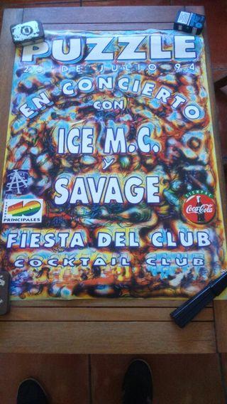 Póster cartel discoteca