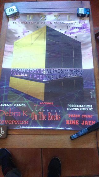 Cartel póster discoteca
