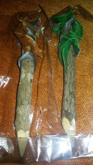 Lapices de madera hechos a mano