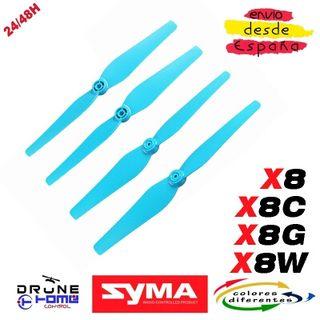 SYMA X8C X8G X8W Hoja hélice. Color azul