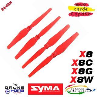 SYMA X8C X8G X8W Hoja hélice. Color rojo