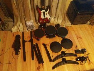 1juego beatles ps3+ bateria guitarra+ microfono