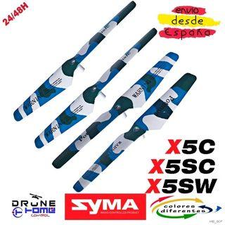 Camuflado SYMA X5C X5SC X5SW Hoja hélice AZUL