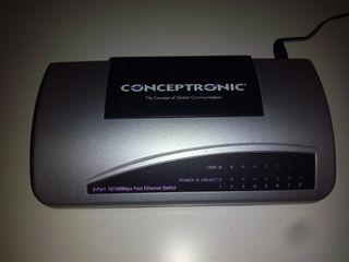 Switch Conceptronic 8 puertos 10/100