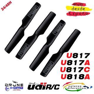 Hélice Drone UDI U818 U817 U817C U817A Negro