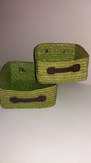 2 cestas mimbre