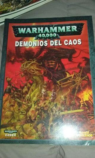 Codex Demonios del Caos Warhammer 40.000 40k WH40K