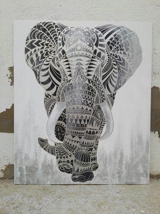 Cuadro moderno Elefante 95 x 80