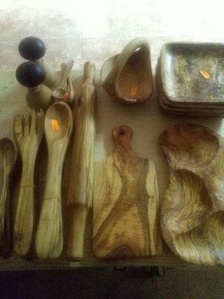 Utensilios de Madera de olivo