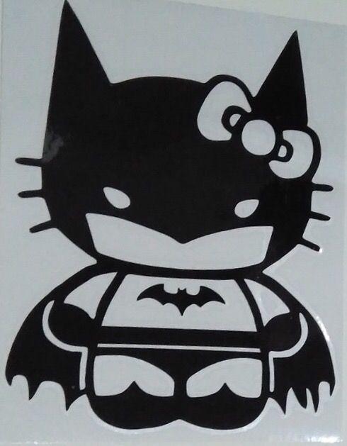 Vinilo Adhesivo Coche, Pared... Batman Kitty.