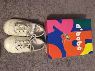 Zapatos beige bebe talla 22